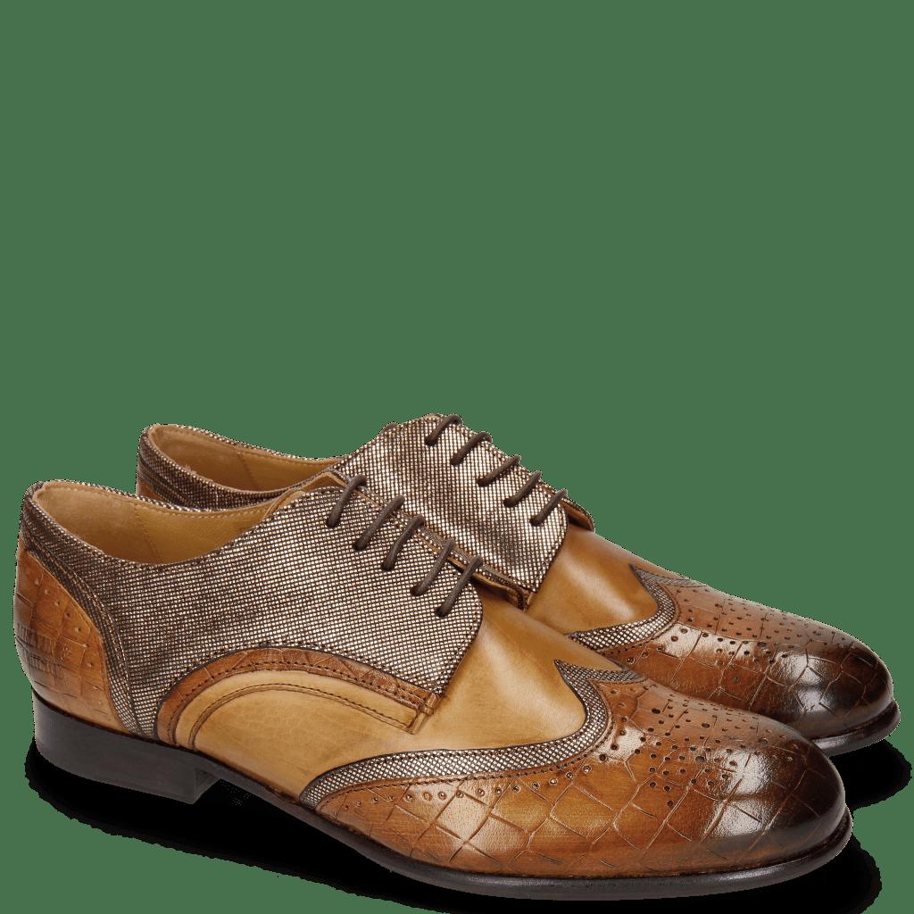 Derby schoenen Sally 15 Wood Fermont Coppa Sand