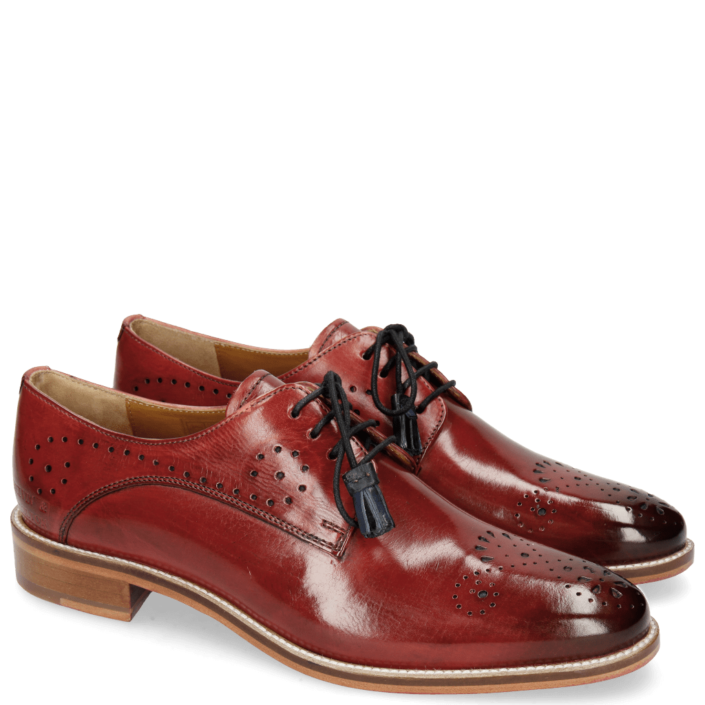 Derby schoenen Betty 2 Ruby Tassel Navy