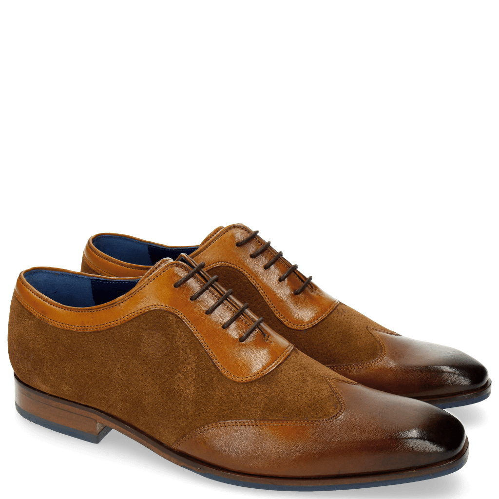 Oxford schoenen Rico 8 Rio Mr Touch Mid Brown Wood