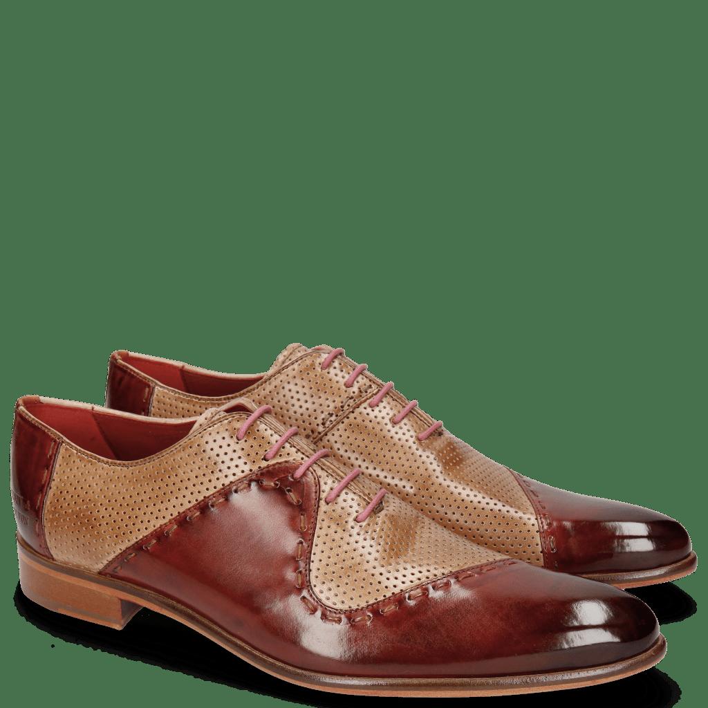 Oxford schoenen Toni 18 Brandy Perfo Corda