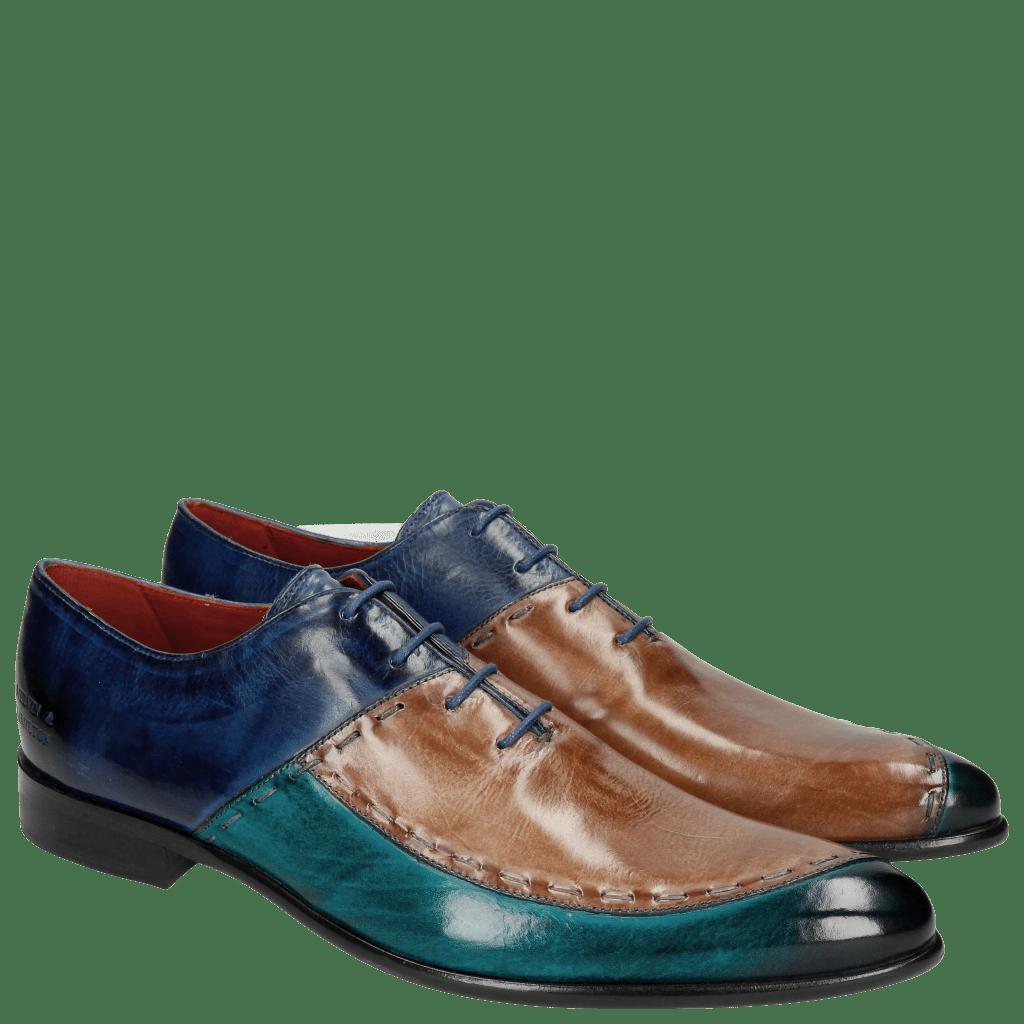 Oxford schoenen Toni 15 Turquoise Cappu China Blue LS