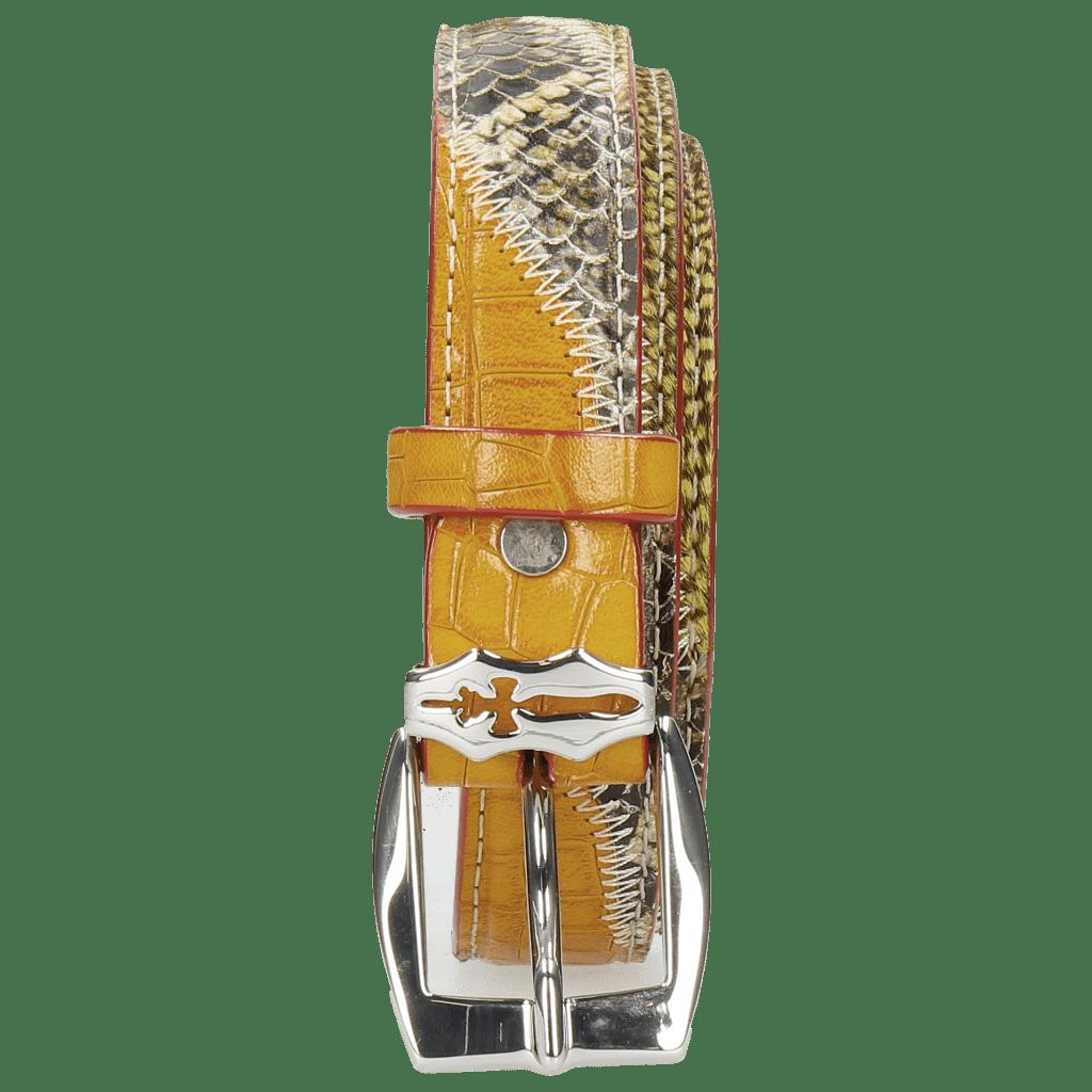 Riemen Linda 2 Snake Yellow Hairon Halftone New Grass Sword Buckle