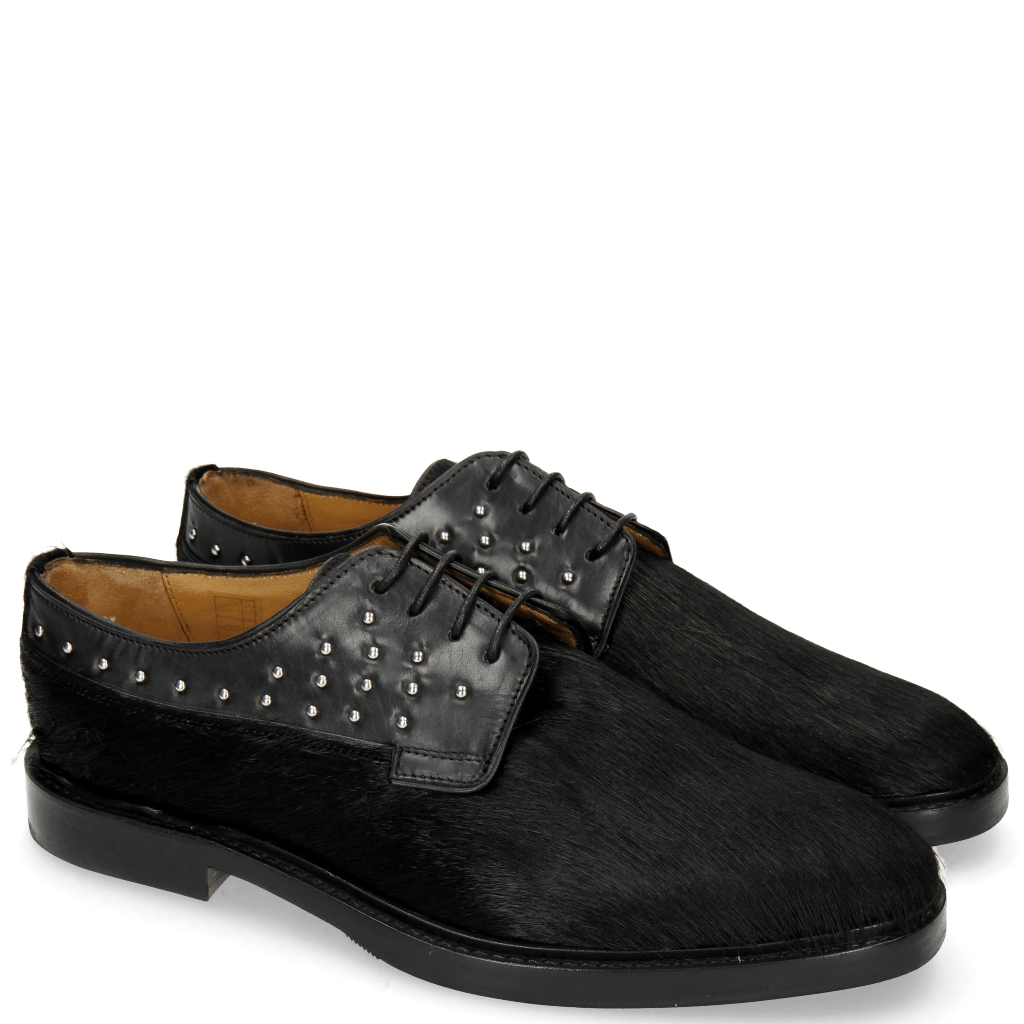 Derby schoenen Katrin 2 Black Hair On