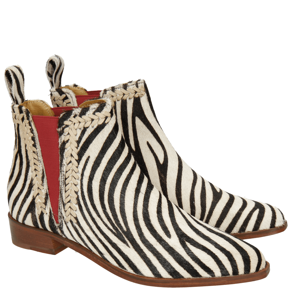Enkellaarzen Marlin 10 Hairon Zebra Vacchetta