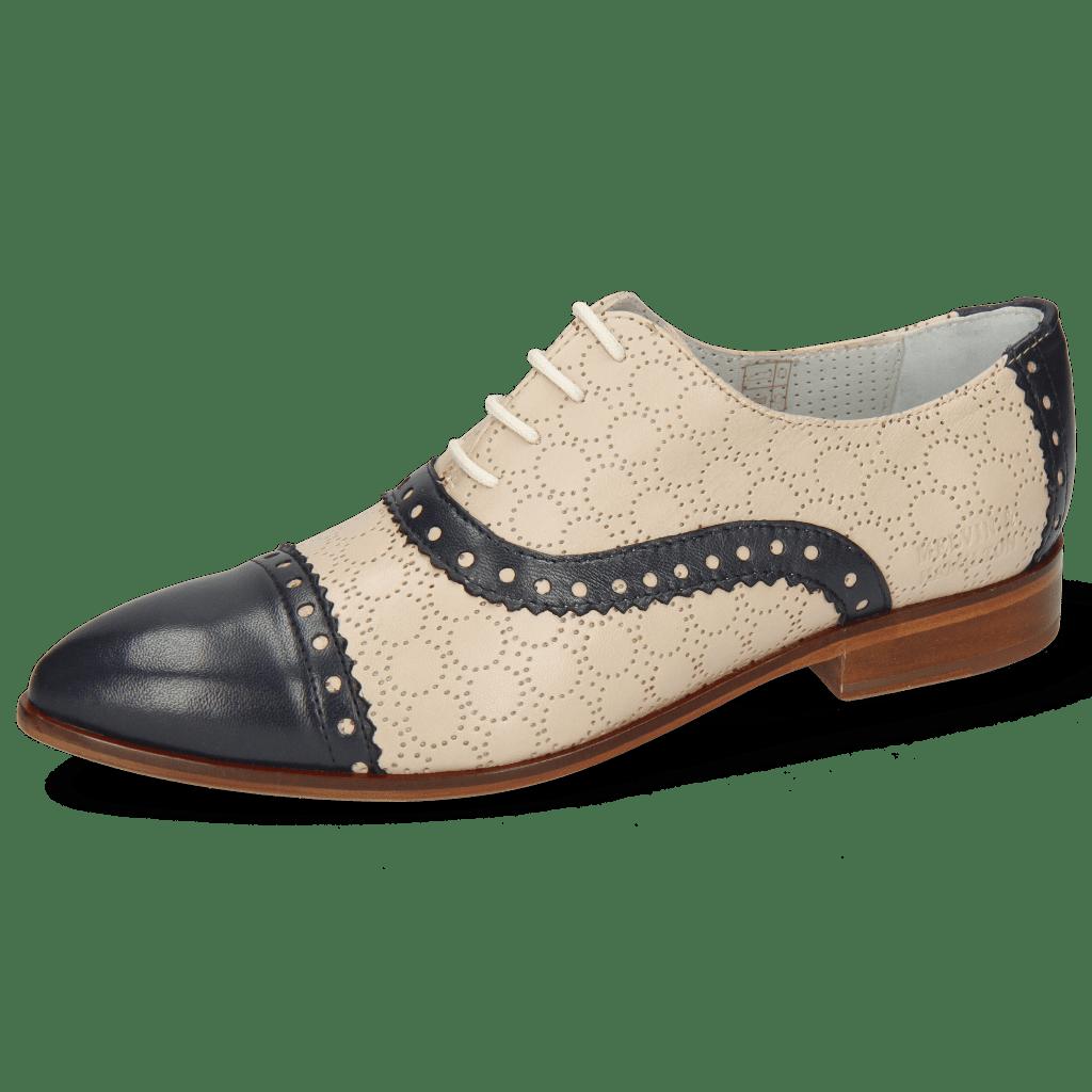 Derby schoenen Jessy 54 Nappa Glove Deep Navy Cream