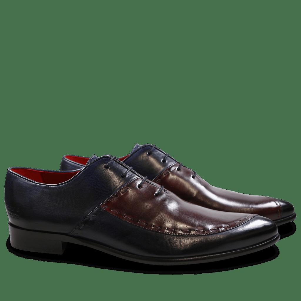 Oxford schoenen Toni 15 Navy Burgundy LS