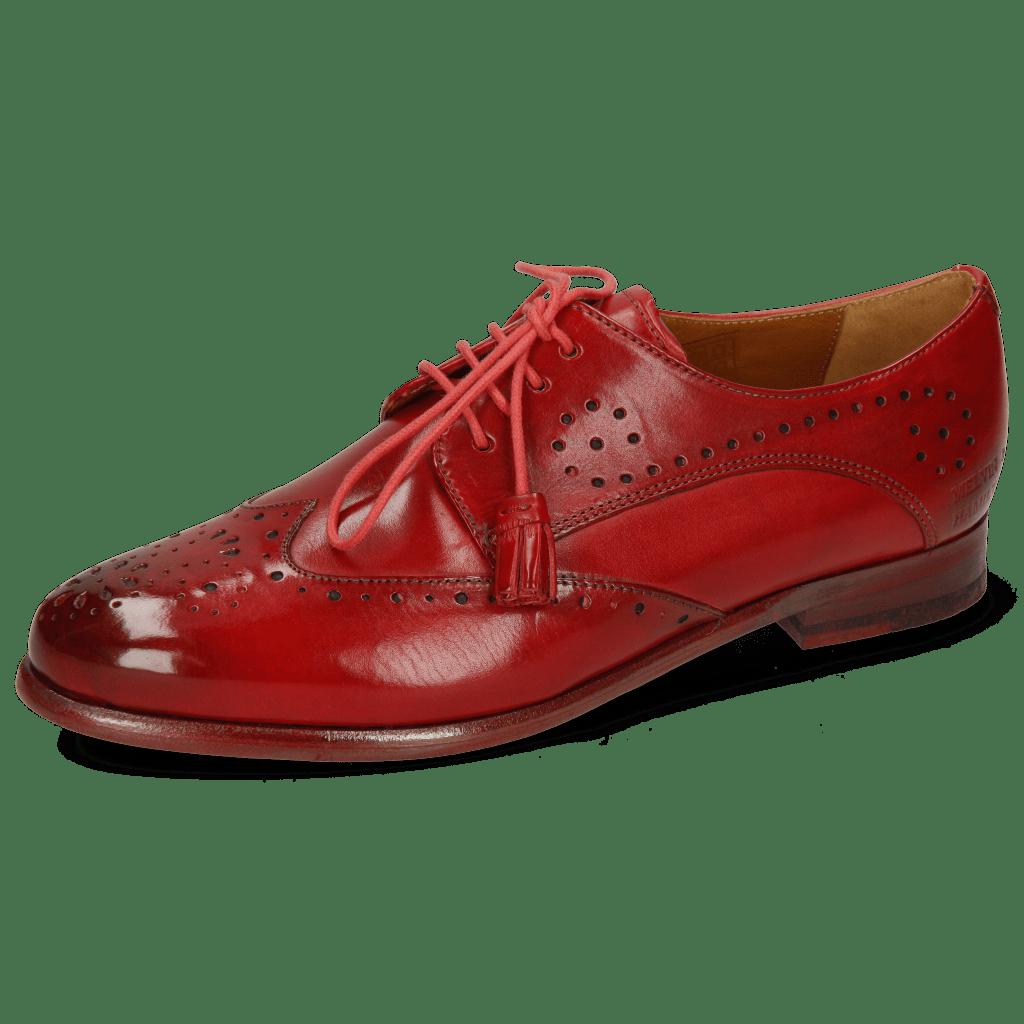 Derby schoenen Selina 41 Red Lining Rich Tan