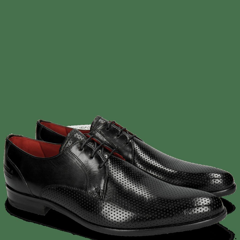 Derby schoenen Toni 1 Perfo Black Modica Black