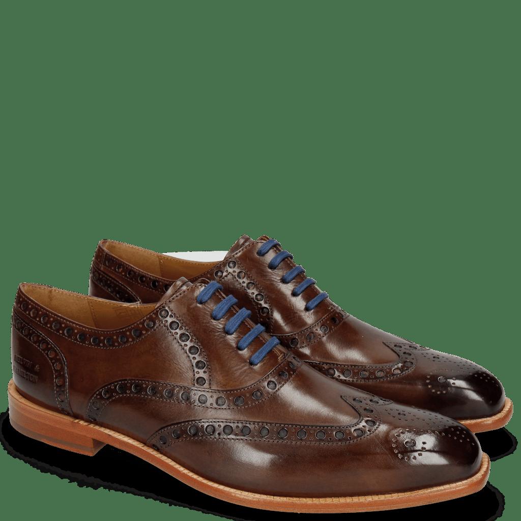 Oxford schoenen Jacob 1 Dark Brown