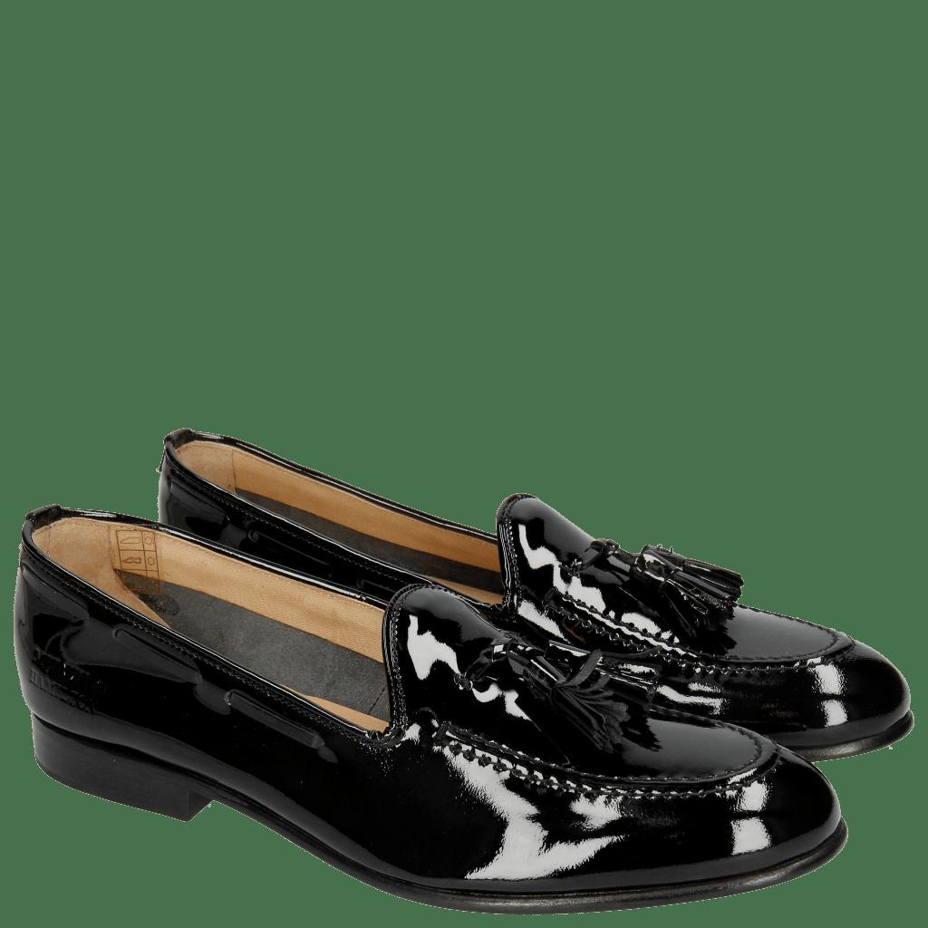 Loafers Sally 11 Patent Black Tassel Black