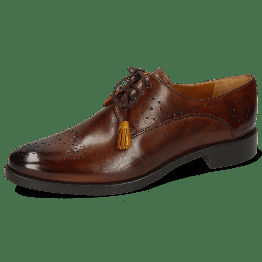 Derby schoenen Betty 2 Mid Brown Tassel Indy Yellow