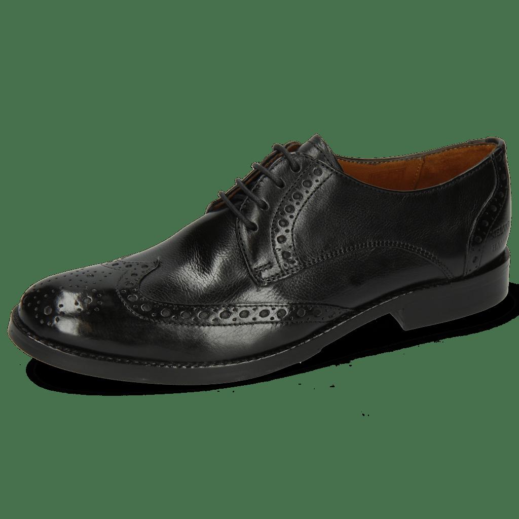 Derby schoenen Amelie 3 Pisa Black Lining Nappa
