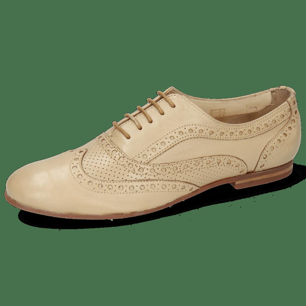 Oxford schoenen Sonia 1  Nappa Perfo Beige