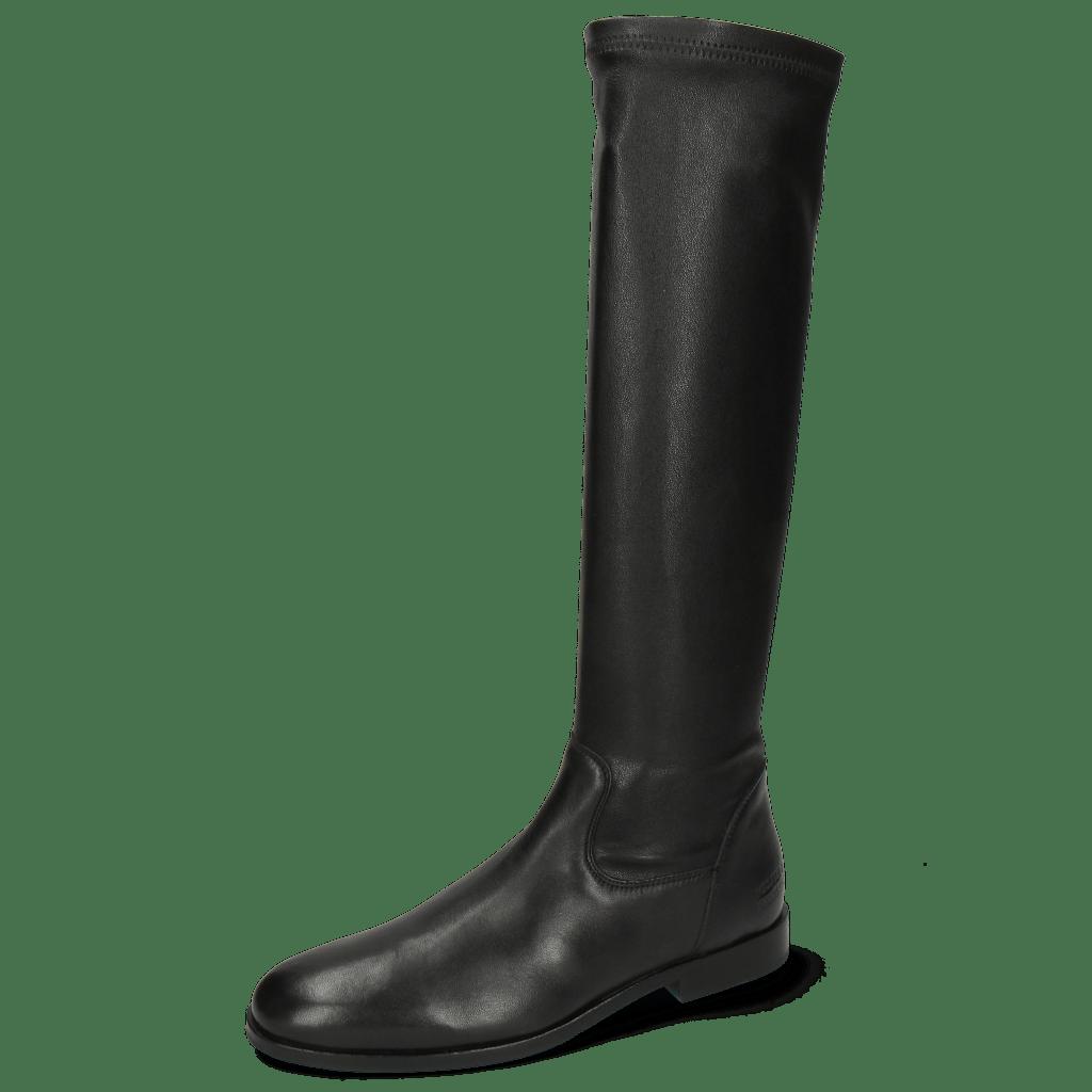 Enkellaarzen Susan 79 Glove Nappa Black Stretch Black
