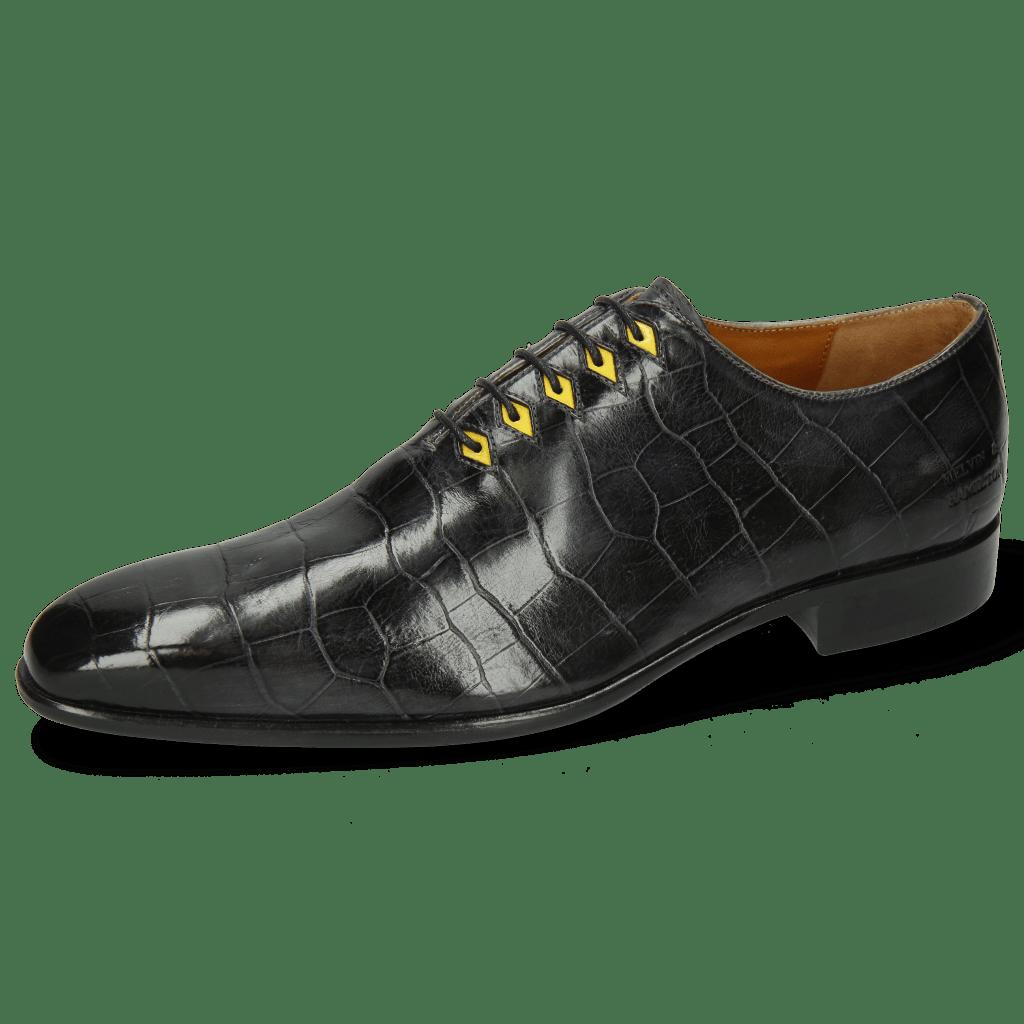 Oxford schoenen Lance 28 Big Croco London Fog Eyelet Fluo Yellow