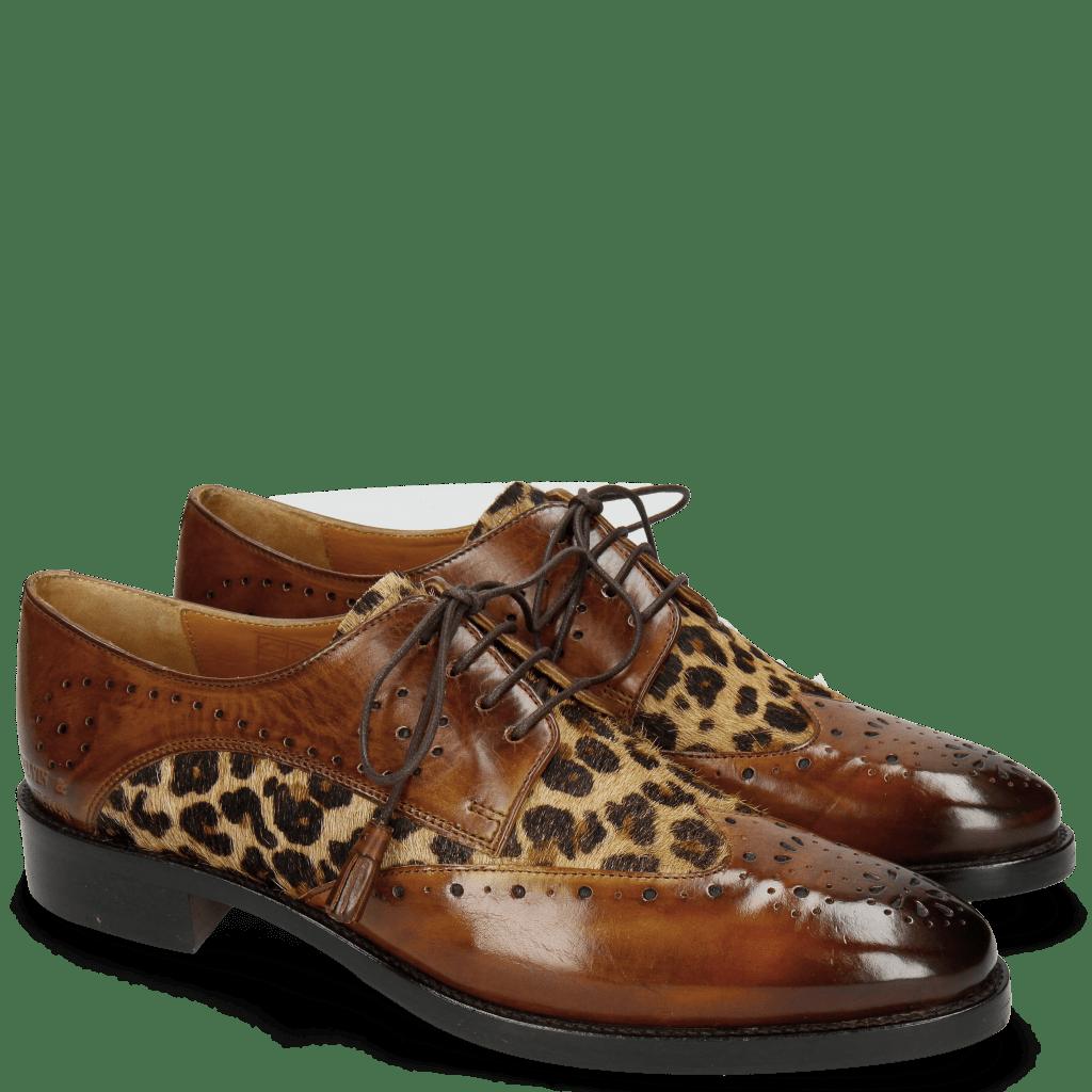 Derby schoenen Betty 3 Wood Hairon Leo