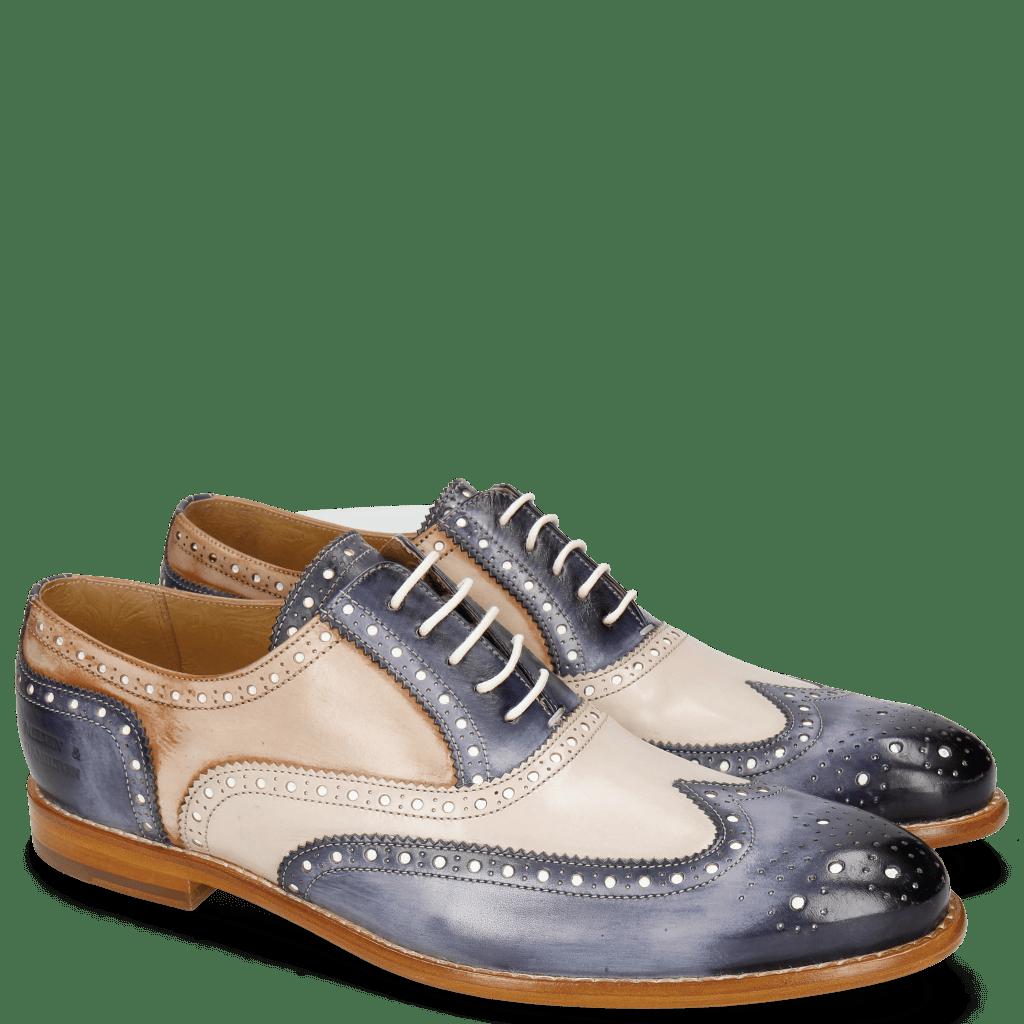 Oxford schoenen Scott 12 Marine Blusher Corda