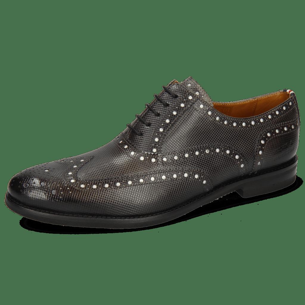 Oxford schoenen Scott 12 Dice London Fog Underlay Patent White