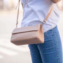 Handtassen Kimberly 5 Woven Nappa Off White