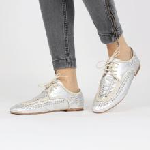 Derby schoenen Aviana 2 Silver Nappa Interlaced