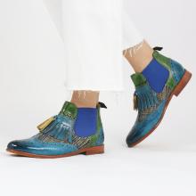 Enkellaarzen Selina 5 Bluette Textile Bambino Ultra Green
