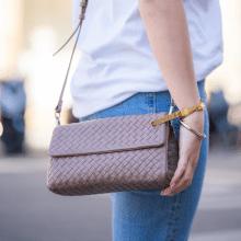 Handtassen Kimberly 5 Woven Nappa Visone