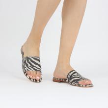Muiltjes Hanna 62 Suede Zebra Off White