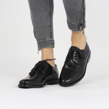 Derby schoenen Selina 41 Black Lining Rich Tan Flex