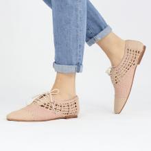 Oxford schoenen Aviana 3 Woven Off White Lavanda