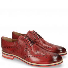 Derby schoenen Clint 19 Perfo Ruby Lining Rich Tan