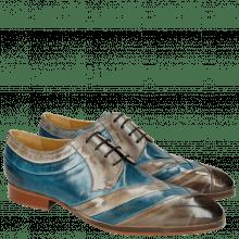 Derby schoenen Ricky 8 Crust Morning Grey Bluette LS Natural
