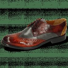 Derby schoenen Amelie 3 Vegas Crock Brandy Plum Yellow Vegas Glicine Flex