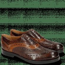 Oxford schoenen Amelie 10 Turtle Mid Brown Python