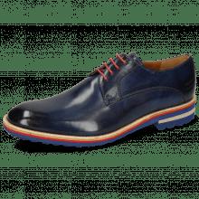 Derby schoenen Eddy 8 Navy Laces Red