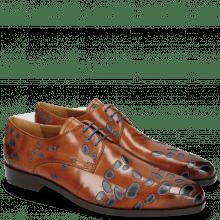 Derby schoenen Lewis 8 Tan Underlay Electric Blue