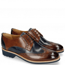 Derby schoenen Amelie 3 Wood Navy