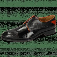 Derby schoenen Kane 30 Turtle Black Soft Patent Orange