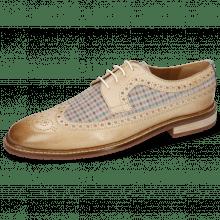 Derby schoenen Logan 6 White Suede Mady Nougat Moroccan Blue