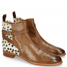 Enkellaarzen Betty 8 Pavia Mid Brown Hairon Wildcat