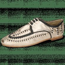 Derby schoenen Aviana 2 Nude Gold Nappa Interlaced Black