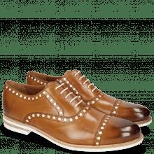 Oxford schoenen Scott 15 Tan Underlay Patent White