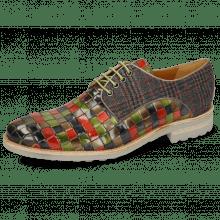 Derby schoenen Brad 7 Woven Multi Textile Charcoal