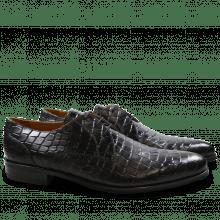 Derby schoenen Toni 1 F T Crock Black Modica Black