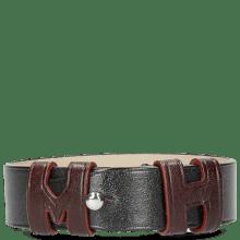 Armbanden Archie 1 Black Loops Burgundy Studs Nickle
