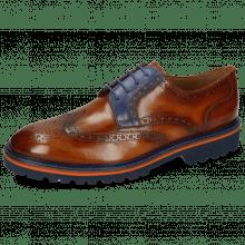 Derby schoenen Matthew 33 Wood Electric Blue