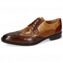 Derby schoenen Jeff 14 Imola Dark Chocolate Tortora Wood Sand Brandy