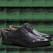 Derby schoenen Xabi 1 Berlin Haina Navy Strap Smoke