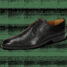 Derby schoenen Xabi 3 Venice Lizzard Black M&H Rubber Navy