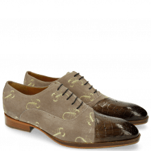 Oxford schoenen Ricky 9 Crock Suede Smoke Gold