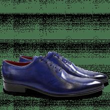 Oxford schoenen Toni 26 Crust Electric Blue Lasercut Snake LS Black
